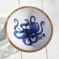 Octopus - Wooden Salad Bowl